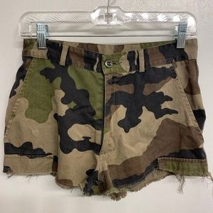 Urban Outfitters Urban Renewal Camo Shorts
